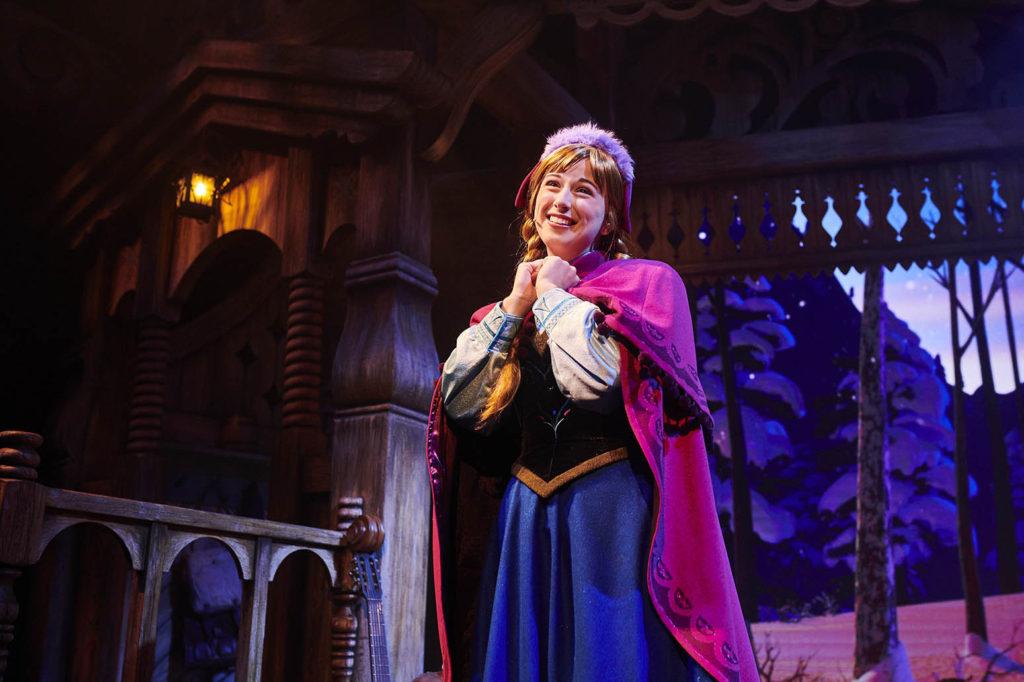 Anna in Kristoff's Barn in Frozen: A Musical Invitation