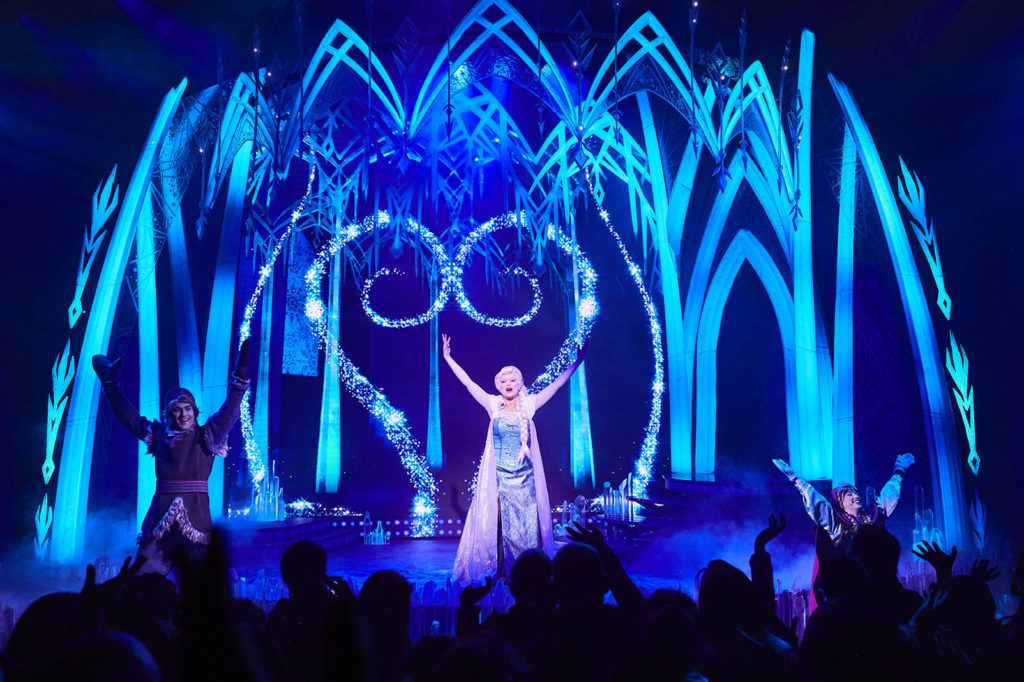 Elsa's Ice Castle in Frozen: A Musical Invitation