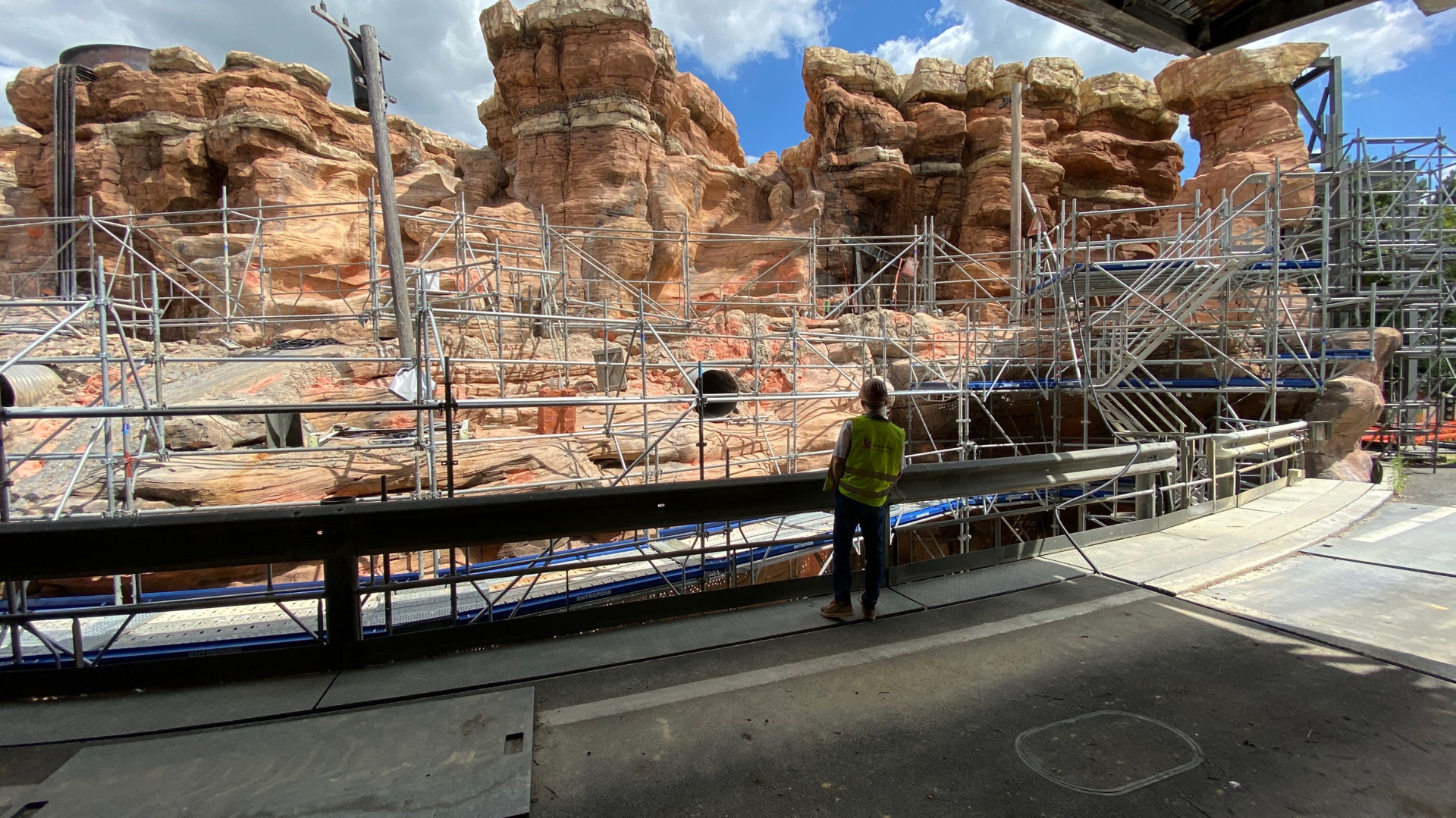 Construction work on Cars: Route 66 Road Trip's reimagining of Catastrophe Canyon
