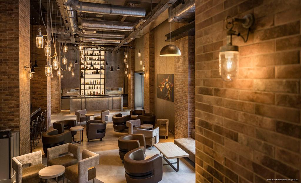 Bleecker Street Lounge  Disney's Hotel New York: The art of Marvel