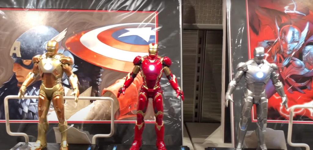 Iron Man models on sale at Disney's Hotel New York: The art of Marvel
