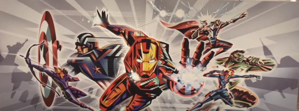 Marvel mural on sale at  Disney's Hotel New York: The art of Marvel